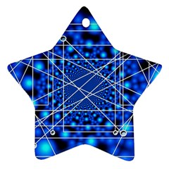 Network Connection Structure Knot Star Ornament (two Sides) by Onesevenart