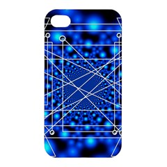 Network Connection Structure Knot Apple Iphone 4/4s Hardshell Case by Onesevenart