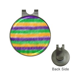 Mardi Gras Strip Tie Die Hat Clips With Golf Markers by PhotoNOLA