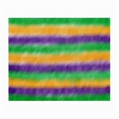 Mardi Gras Strip Tie Die Small Glasses Cloth by PhotoNOLA