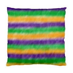 Mardi Gras Strip Tie Die Standard Cushion Case (one Side) by PhotoNOLA