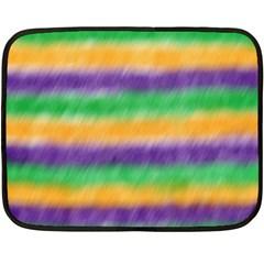 Mardi Gras Strip Tie Die Fleece Blanket (mini) by PhotoNOLA
