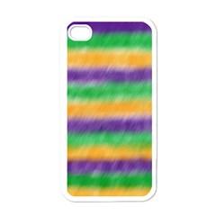 Mardi Gras Strip Tie Die Apple Iphone 4 Case (white) by PhotoNOLA