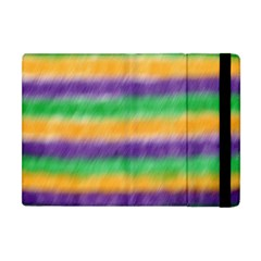 Mardi Gras Strip Tie Die Apple Ipad Mini Flip Case by PhotoNOLA