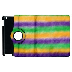 Mardi Gras Strip Tie Die Apple Ipad 3/4 Flip 360 Case by PhotoNOLA