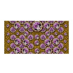 Gold Plates With Magic Flowers Raining Down Satin Wrap by pepitasart