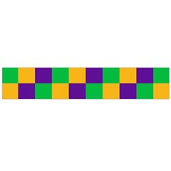 Mardi Gras Checkers Flano Scarf (large) by PhotoNOLA