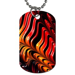 Fractal Mathematics Abstract Dog Tag (two Sides) by Onesevenart