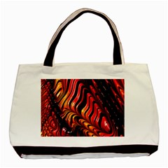 Fractal Mathematics Abstract Basic Tote Bag by Onesevenart