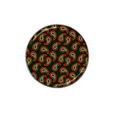 Pattern Abstract Paisley Swirls Hat Clip Ball Marker by Onesevenart