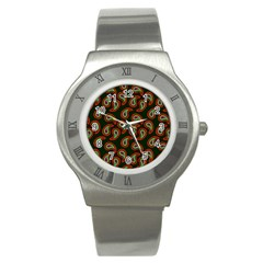 Pattern Abstract Paisley Swirls Stainless Steel Watch by Onesevenart