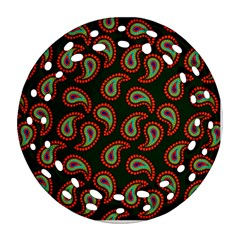 Pattern Abstract Paisley Swirls Round Filigree Ornament (two Sides) by Onesevenart