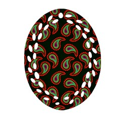 Pattern Abstract Paisley Swirls Oval Filigree Ornament (two Sides) by Onesevenart
