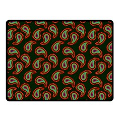 Pattern Abstract Paisley Swirls Double Sided Fleece Blanket (small)  by Onesevenart