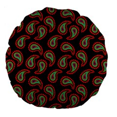 Pattern Abstract Paisley Swirls Large 18  Premium Flano Round Cushions by Onesevenart
