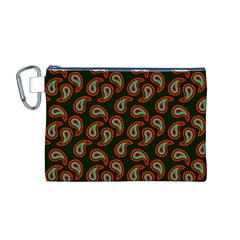 Pattern Abstract Paisley Swirls Canvas Cosmetic Bag (m) by Onesevenart