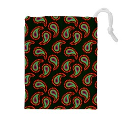 Pattern Abstract Paisley Swirls Drawstring Pouches (extra Large) by Onesevenart