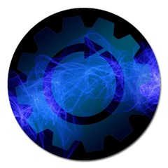 Particles Gear Circuit District Magnet 5  (round) by Onesevenart