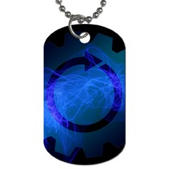 Particles Gear Circuit District Dog Tag (two Sides) by Onesevenart
