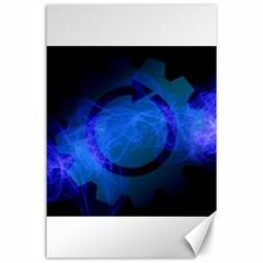 Particles Gear Circuit District Canvas 24  X 36  by Onesevenart