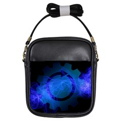 Particles Gear Circuit District Girls Sling Bags by Onesevenart