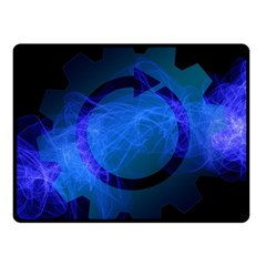 Particles Gear Circuit District Fleece Blanket (small) by Onesevenart