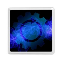 Particles Gear Circuit District Memory Card Reader (square)  by Onesevenart