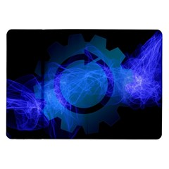 Particles Gear Circuit District Samsung Galaxy Tab 10 1  P7500 Flip Case by Onesevenart
