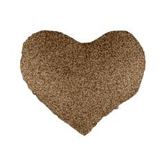 Mosaic Pattern Background Standard 16  Premium Flano Heart Shape Cushions by Onesevenart