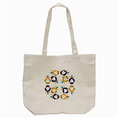 Pattern Circular Birds Tote Bag (cream) by Onesevenart