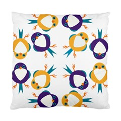 Pattern Circular Birds Standard Cushion Case (one Side) by Onesevenart