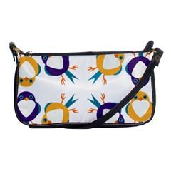 Pattern Circular Birds Shoulder Clutch Bags by Onesevenart