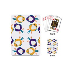 Pattern Circular Birds Playing Cards (mini)  by Onesevenart
