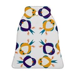 Pattern Circular Birds Ornament (bell) by Onesevenart