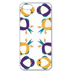 Pattern Circular Birds Apple Seamless Iphone 5 Case (clear) by Onesevenart