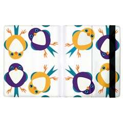 Pattern Circular Birds Apple Ipad 3/4 Flip Case by Onesevenart