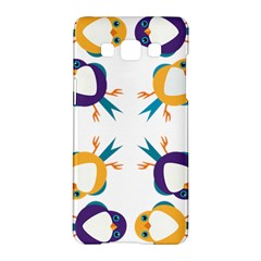 Pattern Circular Birds Samsung Galaxy A5 Hardshell Case  by Onesevenart
