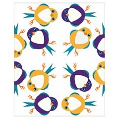 Pattern Circular Birds Drawstring Bag (small) by Onesevenart