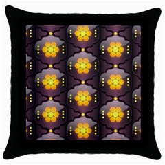 Pattern Background Yellow Bright Throw Pillow Case (black) by Onesevenart