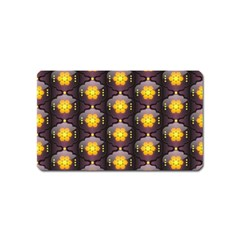 Pattern Background Yellow Bright Magnet (name Card) by Onesevenart