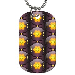 Pattern Background Yellow Bright Dog Tag (one Side) by Onesevenart