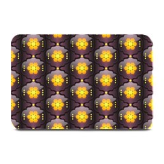 Pattern Background Yellow Bright Plate Mats by Onesevenart