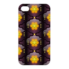 Pattern Background Yellow Bright Apple Iphone 4/4s Hardshell Case by Onesevenart