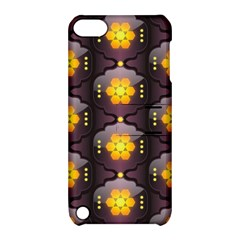 Pattern Background Yellow Bright Apple Ipod Touch 5 Hardshell Case With Stand by Onesevenart
