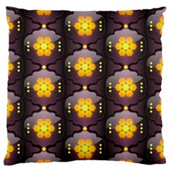 Pattern Background Yellow Bright Standard Flano Cushion Case (one Side) by Onesevenart