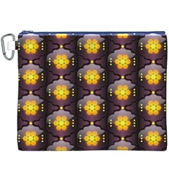 Pattern Background Yellow Bright Canvas Cosmetic Bag (xxxl) by Onesevenart