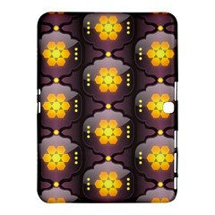 Pattern Background Yellow Bright Samsung Galaxy Tab 4 (10 1 ) Hardshell Case  by Onesevenart