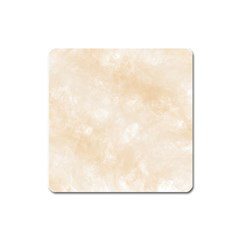 Pattern Background Beige Cream Square Magnet by Onesevenart