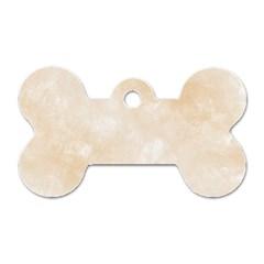 Pattern Background Beige Cream Dog Tag Bone (two Sides) by Onesevenart