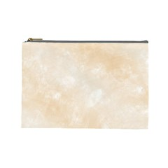 Pattern Background Beige Cream Cosmetic Bag (large)  by Onesevenart